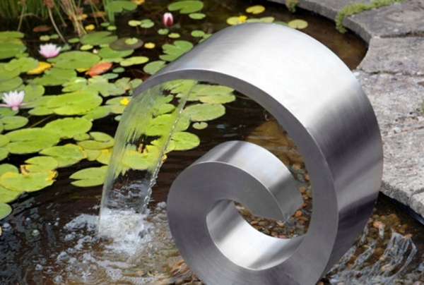 Stainless Steel Spiral Water Feature from Primrose