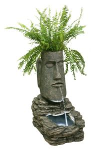 Easter Island Head Solar Water Feature from Primrose