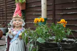 Queen Gnome Surveying my handiwork