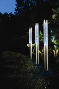 Solar Post Bubble Lights