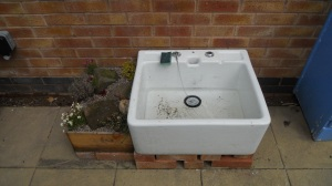 Sink and rockery garden