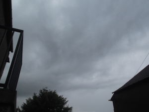 Thunder clouds forming over my garden