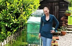 Nicole in the garden