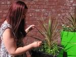 Jo and plants doing 'Feelings'