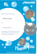 wateraid certificate