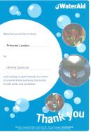 wateraid certificate