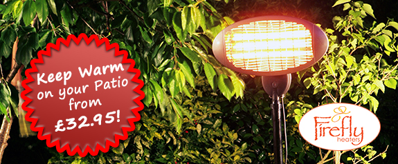 Keep warm with a Firefly Patio Heater from £32.95!