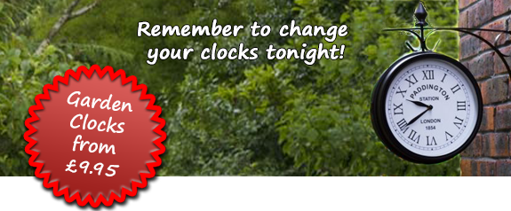 Garden Clocks from £9.95