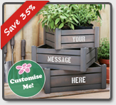 Personalisable Handi-Crate Gift Set with Garden Tools from Primrose