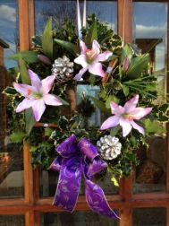 Designer Luxury Holly Wreaths Lilac