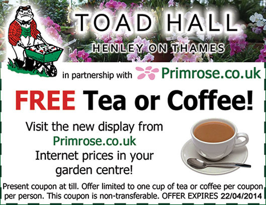 Toad Hall coffee coupon